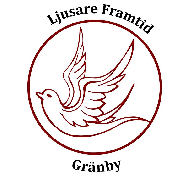 Föreningshjälpen, logga till föreningen ljusare framtid, flygande fågel i en cirkel