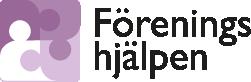 Föreningshjälpens logo, pusselbitar som ser ut som människor